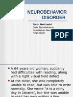 Neurobehavior Disorders