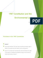 1987 Constitution as Basis of Environmental Laws