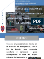 Importancia Del Sistema de Comando de Incidentes Aplicado a La Industria