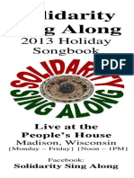 Solidarity Sing Along Songbook, Holiday 2013 edition