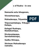 11 Names of Rudra