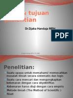 Jenis & tujuan penelitian