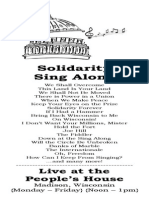 Solidarity Sing Along Songbook, October 2014 edition