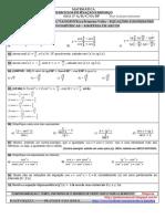 Lista 07 - Segundos Anos - Equações e Expressões Trigonométricas Com Gabarito - EM