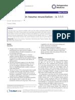 new evidence trauma resus