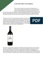 Los Diferentes Tipos De Vino Tinto Y Sus Sabores Caraceristicos