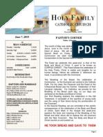 church bulletin for  6-7-2015 (1)