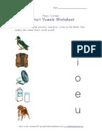 Short Vowel Matching