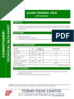 Polyester Film - Polyester Gloss - Ployester Gloss 75mc Technical Datasheet