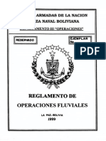 No. 9.- Reglamento de OPeraciones Fluviales. 1999