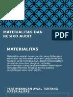 Materialitas Dan Resiko Audit