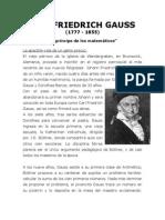Biografia Del Matematico Carl Friedrich Gauss