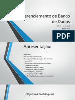 Gerenciamento de Banco de Dados Moodle