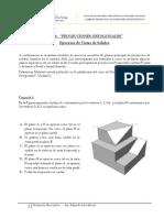 Ejercicios Resueltos de Proyecciónes Ortogonales Vistas de Sólidos