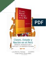 Clases, Estado y Nacionen El Perú