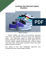 Cara Membersihkan Dan Merawat Sepatu Sneakers