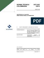 ISO 10015 Directrices Para La Formación