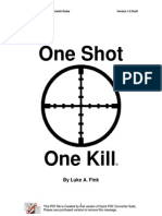 One Shot One Kill Draft V1