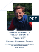 Beau Biden funeral program