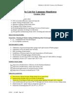Lummus Shutdown October-2014 Job List