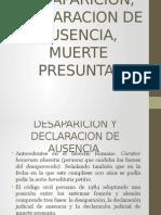 Desaparicion y Declaracion de Ausencia