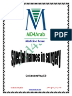 Special Names in Surgery