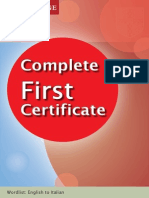 FCE - Complete First Certificate Italian Wordlist