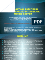 Tanzania Mining Contractual Terms by Gilay Shamika