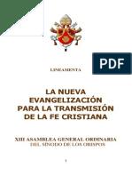 Sinodo Sobre La Nueva Evangelización - Lineamenta