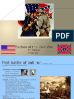 Civil War Battles Power Point