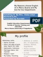 My Profile, My Reasons Choose English Department (2)