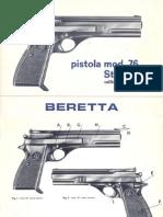 Pistola Beretta mod. 76 Standard cal. .22 l.r.