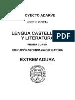 Programación Lengua Castellana y Literatura 1º ESO Adarve Cota Extremadura