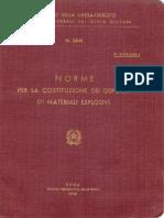 Norme per la costituzione dei depositi di materiali esplosivi (3841) 1958