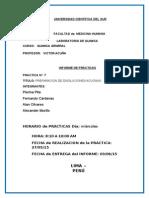 PREPARACIÓN DE DISOLUCIONES ACUOSAS-informe 7 quimica