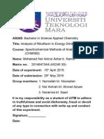 Fluorescence Spectroscopy