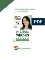 Banderas Senadora Claudia Wilches