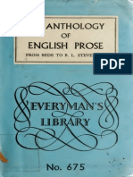Anthology of English Prose (from Bede to Stevenson) of English Prose (From Bede to Stevenson)