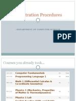 Pre Registration Procedures