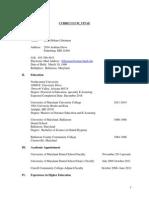 curriculum vitae june 2015