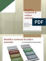 16 SLIDES PROF. SQUEGLIA Modelli e Contenuti Di Welfare Aziendale