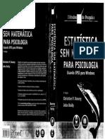 Livro Estatistica Sem Matematica Para Psicologia
