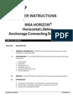 Horizon Horizontal Lifeline Instruction Manual - En