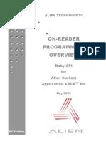 Alien on-Reader Programming Overview, ARCA