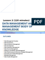 Lesson 2 - Data Management and Data Management Book of Knowledge 010115