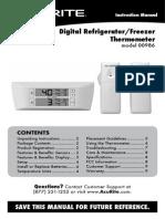 Digital Refrigerator/Freezer  Thermometer model 00986
