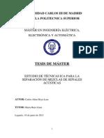 ESTUDIO DE TÉCNICAS ICA PARA LA SEPARACIÓN DE MEZCLAS DE SEÑALES ACÚSTICAS Incluye Aplicacion a Descargas parciales