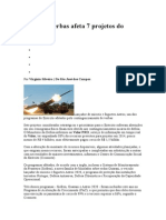 Corte de Verbas Afeta 7 Projetos Do Exército