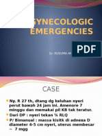Gynecologic Emergencies