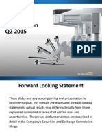 Intuitive Surgical Investor Presentation 05/12/15